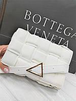 Сумка-клатч Bottega Veneta White Белая