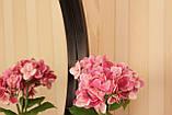 Зеркало круглое в тонкой черной раме в салон/ Диаметр 380 мм/ Зеркало круглое на стену/ Код MD 2.1/1, фото 4