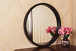 Зеркало круглое в тонкой черной раме в салон/Зеркало круглое на стену/Диаметр 440мм/ Код MD 2.1/2, фото 2