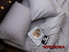 Двуспальный набор постельного белья 180*220 из Страйп Сатина №544201 KRISPOL™