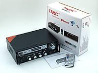 Усилитель звука UKC SN-555BT 120W 2*60W c FM и Bluetooth Karaoke