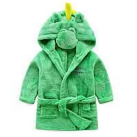 Детский теплый халат с капюшоном в виде крокодила от 2 до 4 лет