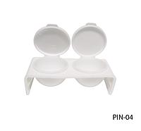 Двойная посуда с крышкой для жидкости (мономера) Lady Victory LDV PIN-04 /44-0