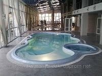 Стекловолоконный бассейн Майями 10,70х5,50м глубиной 1,00-1,85м, фото 1