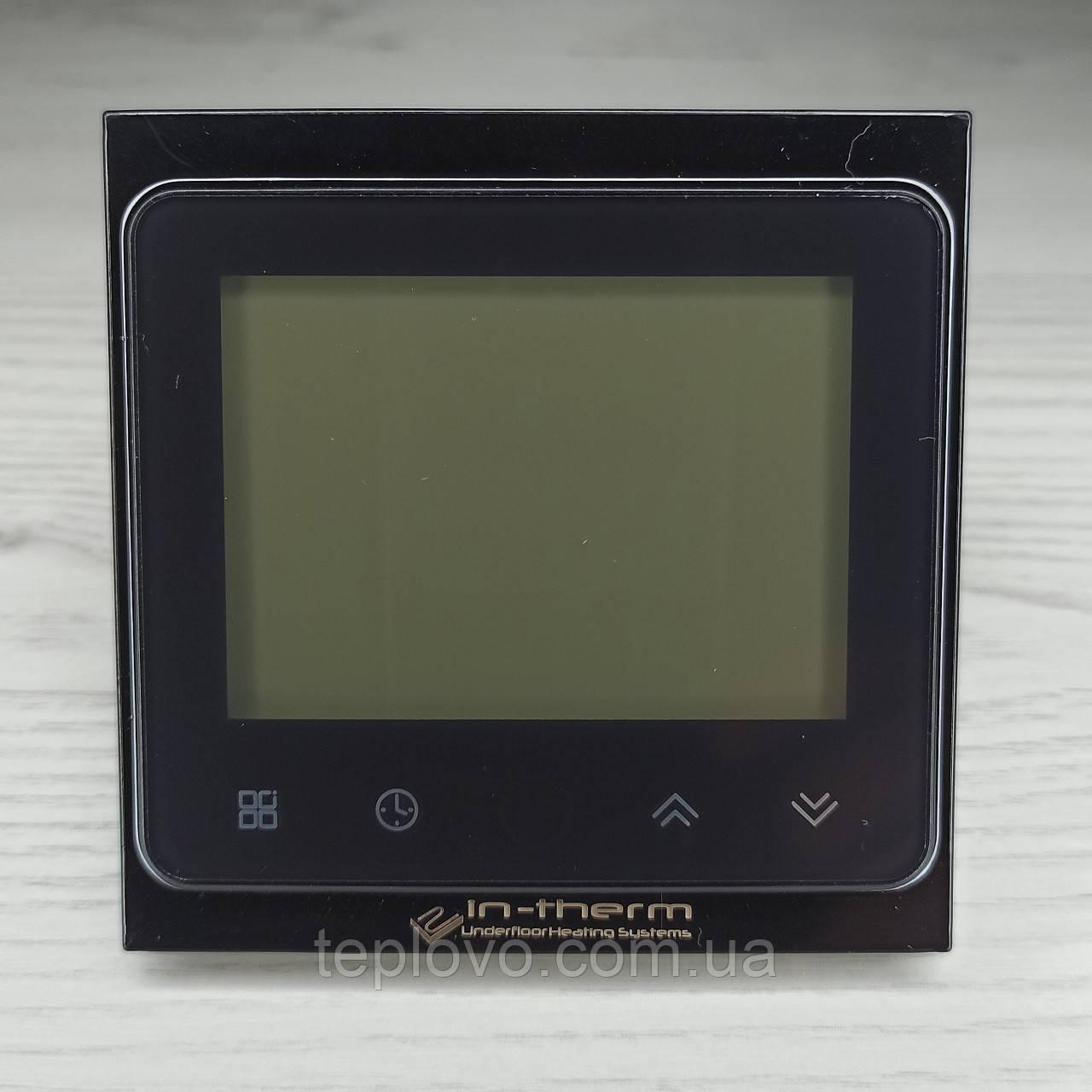Терморегулятор программируемый IN-THERM PWT 002 Wi-Fi Black, программатор для теплого пола