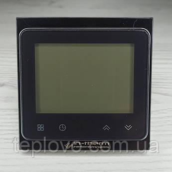 Терморегулятор програмований IN-THERM PWT 002 Wi-Fi (чорний), сенсорний програматор для теплої підлоги
