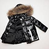 Зимняя куртка для мальчика с натуральным мехом  БИО-ПУХ Чёрный р. 92, 110, фото 3