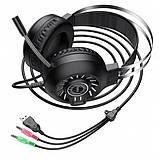 Наушники для ПК с микрофоном Hoco ESD04 Черный, фото 4