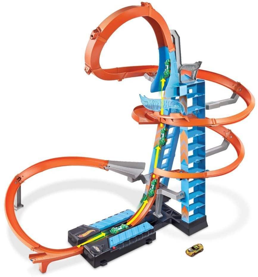 Трек Хот Вилс Падение с небоскрёба Hot Wheels Sky Crash Tower Track Set