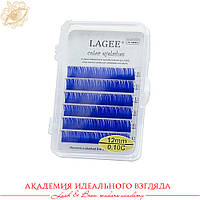 Ресницы цветные Lagee 6 линий Синие
