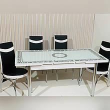 64-002 Стіл розкладний зі скла і 4 стільці
