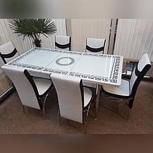 6-002 Стіл розкладний зі скла і 6 стільців