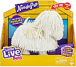 Интерактивный щенок лапша белый Little Live Pets Noodle Pup, фото 2