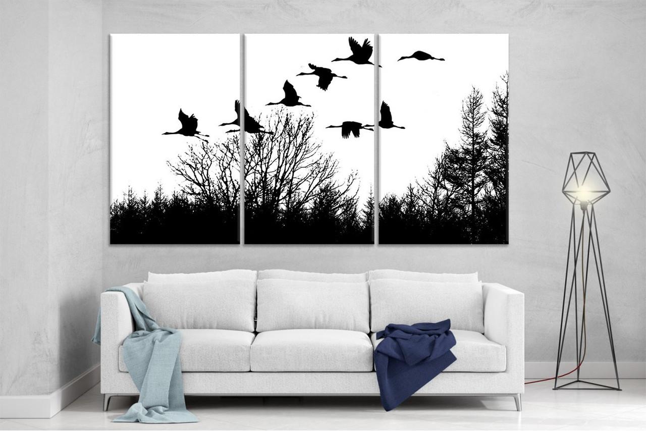 Модульная картина на холсте DK Store из трех частей 167x99 см В теплые края (XL140)