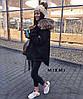 Модная женская зимняя парка с мехом, фото 4