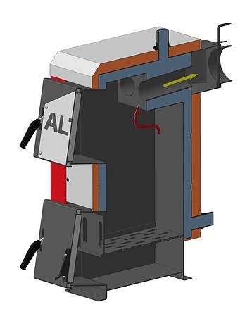Котел Altep (Альтеп) Mini 16 кВт твердотопливный. Бесплатная доставка., фото 2