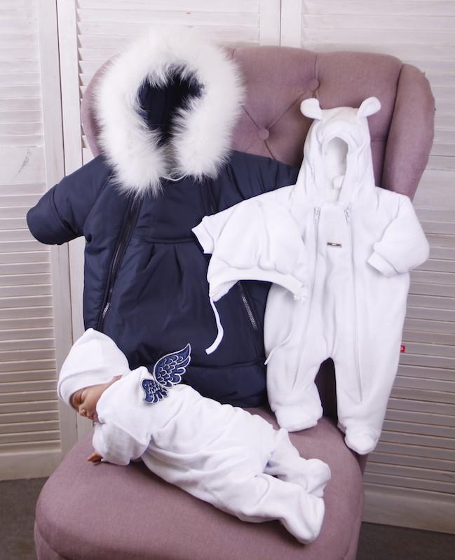 Зимний комплект на выписку для новорожденного Ангелочек