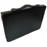 Папка портфель для документов кожаная Дорожка Черная 7104, КОД: 1890051
