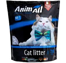 Силикагелевый наполнитель AnimAll Голубой Аквамарин для котов 7.6 л (3.2 кг)