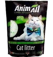 Силикагелевый наполнитель AnimAll Зеленый Холм для котов 3.8 л (1.6 кг)