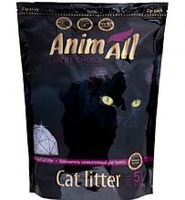 Силикагелевый наполнитель AnimAll Premium Фиолетовый Аметист для котов 5 л (2.1 кг)
