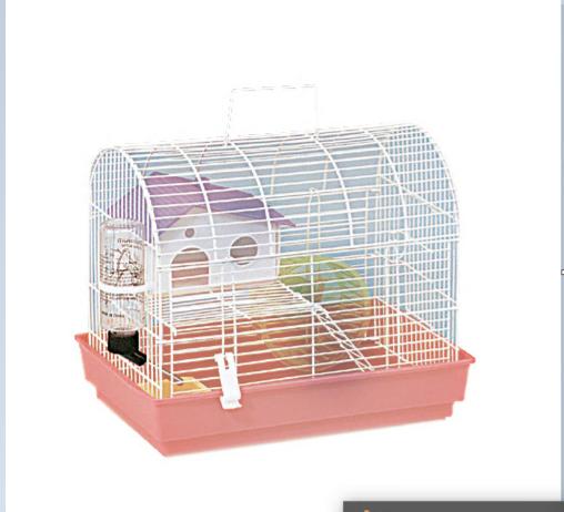 Клетка AnimAll для хомяка 34х24х29 см