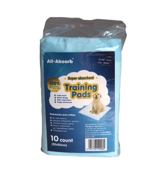 Пелюшки All-Absorb Basic для собак 60х45 см 10 шт