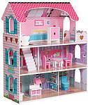 Кукольный домик трехэтажный дом для маленькой куклы AVKO Вилла Флоренция