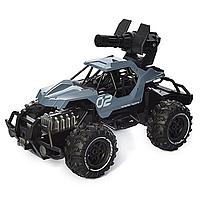 Детская внедорожная машина джип SL-244A на радиоуправлении стреляет пулями, резиновые колеса
