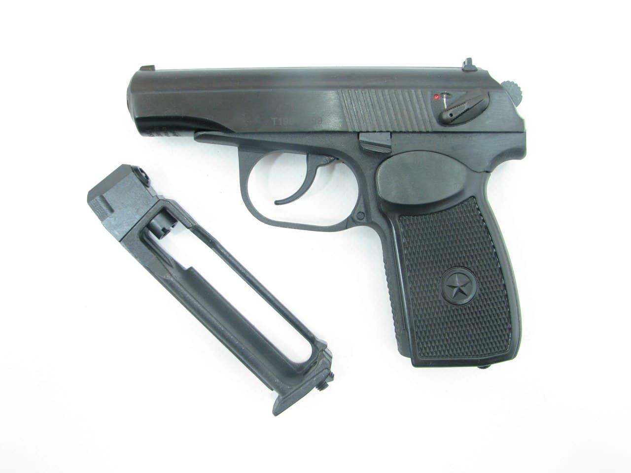 Пистолет пневматический Байкал МР-654К 28 серия + баллончик со2 + шарики 500 шт