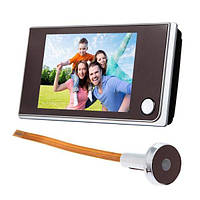 Видеоглазок дверной беспроводной Kivos SF 515, 3.5 дюймовый экран Черный 100082, КОД: 1455501