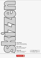 Скетчбук А2 Brunnen клеенный блок белая обложка 190 г м2, 50 листов 1047255, КОД: 1931317