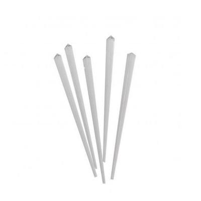 Шпажка пластиковая Призма белая 30 шт