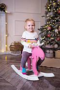 """Дерев'яна дитяча гойдалка """"Лосяш"""", рожевий колір, фото 7"""