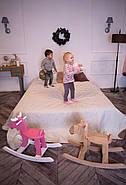 """Дерев'яна дитяча гойдалка """"Лосяш"""", рожевий колір, фото 6"""