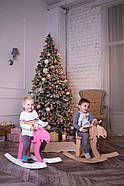 """Дерев'яна дитяча гойдалка """"Лосяш"""", рожевий колір, фото 8"""