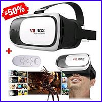 Очки виртуальной реальности VR BOX 2.0 с пультом / ВР-очки / 3D очки / 3Д очки + пульт