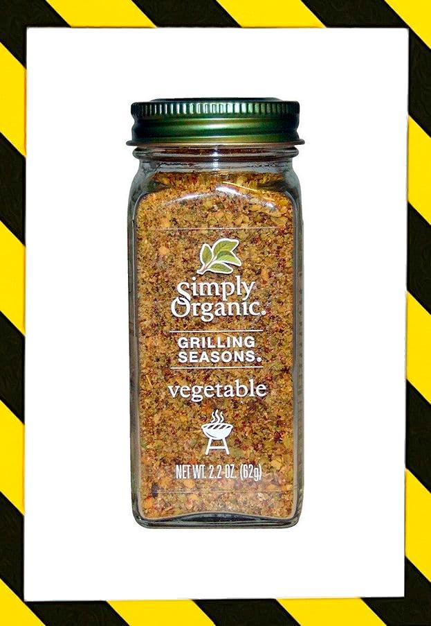 Simply Organic, Специи для гриля, Для овощей, Органические, (62 г)