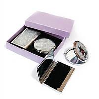 Подарочный набор зеркальце с визитницей 45447, КОД: 1364733