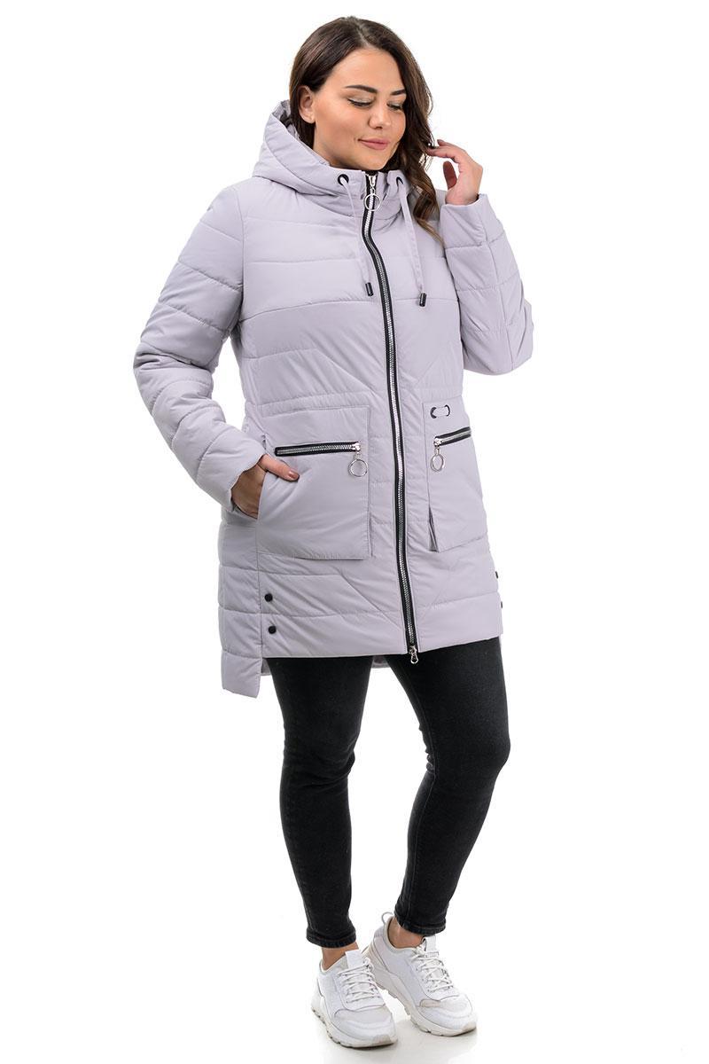 Куртка демисезон, женская  лиловая (48,50,52,54,56,58р.)