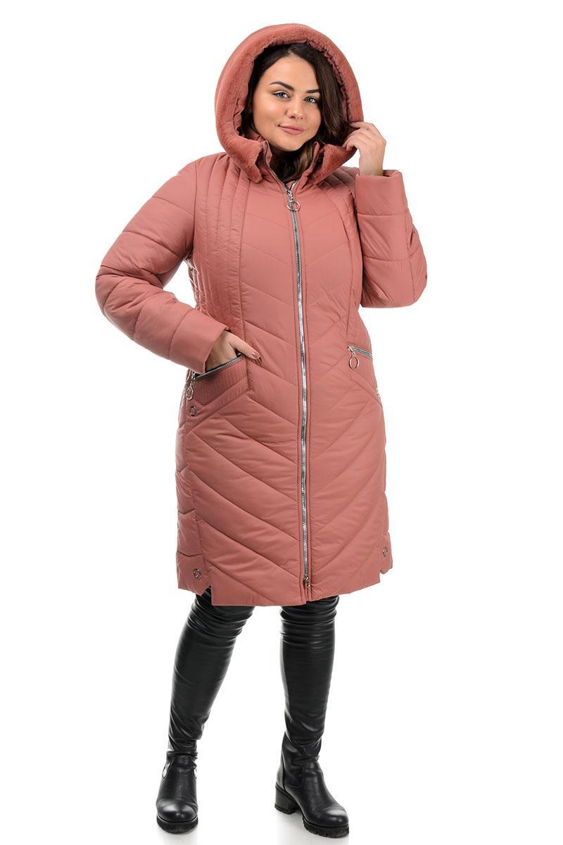 Куртка зимняя, женская  оранжевая (50,52,54,56,58,60,62р.)