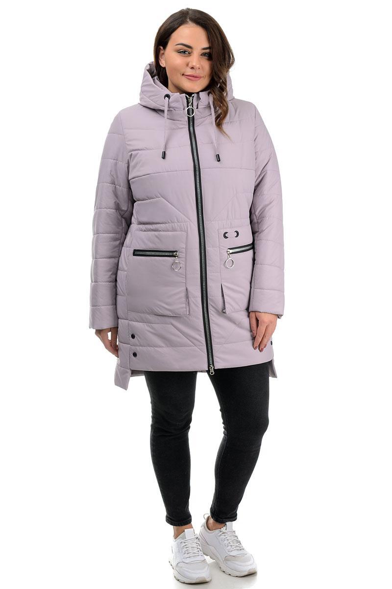 Куртка демисезон, женская, лиловая (48,50,52,54,56,58)