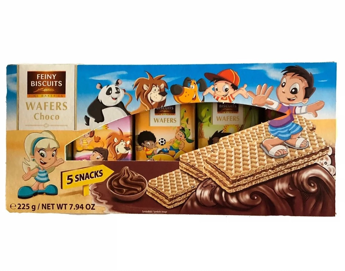 Вафли Feiny Biscuits Wafers Choco 5 Snaks 225 г Австрия