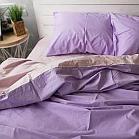 Комплект постельного белья Хлопковые Традиции Евро 200x220 Фиолетово-розовый PF020евро, КОД: 740627