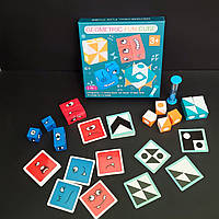 Набор развивающих настольных игр для детей 2 в 1 (Сложи узор и Эмоциональные кубики)