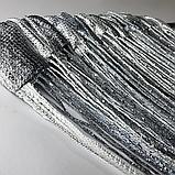 Шторы кисея с люрексов  Нитяные шторы  Графит-серо-белые, фото 3