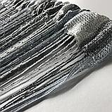 Шторы кисея с люрексов  Нитяные шторы  Графит-серо-белые, фото 5