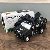 Детский сейф копилка Cash Truck с кодовым замком отпечатком пальца для детей ребенка электронная игрушечный