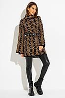 Трендовый свитер-туника с объемной горловиной и расклешенным рукавом 44-48 PF-4739-02