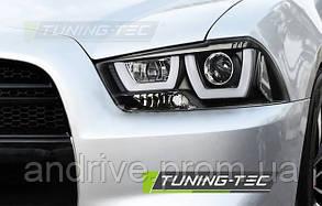 Передні фари Dodge Charger (2011-2015) темні тюнінговані (ЦІНА ЗА ПАРУ)